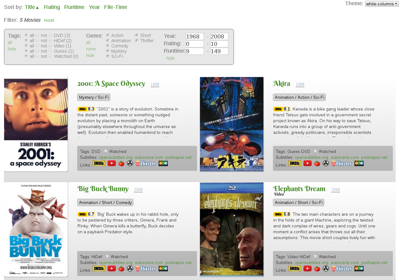 Simple Movie Catalog Screenshot